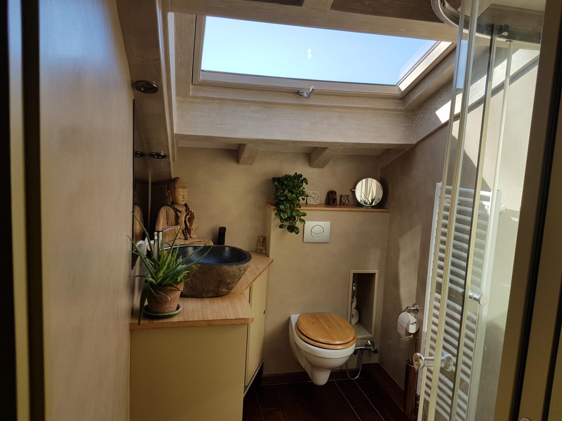 Salle de bain en béton cirée